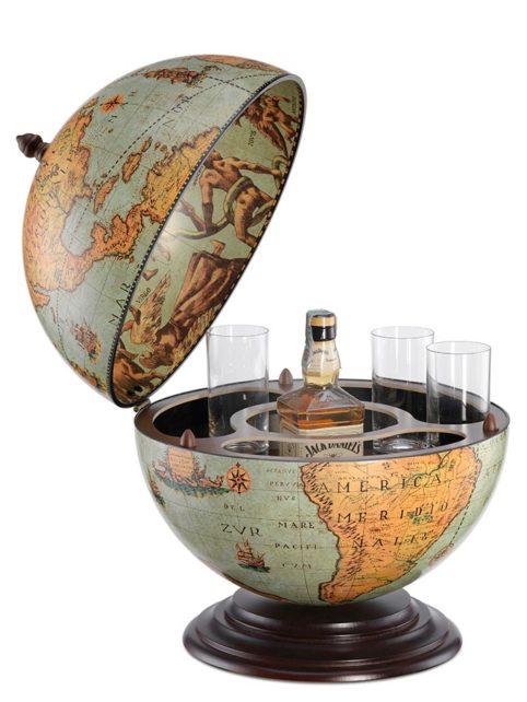 Fine Vintage table top bar globe - laguna, product photo