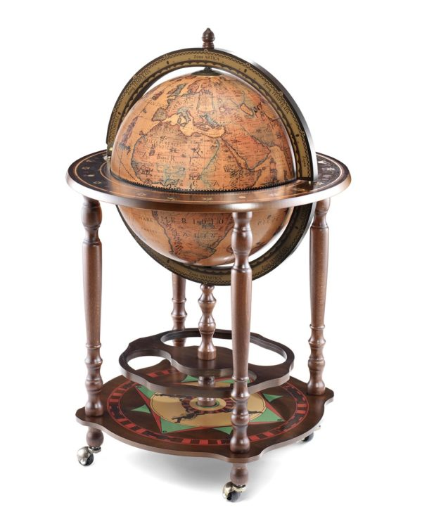 Product photo of the Minosse floor globe bar - closed