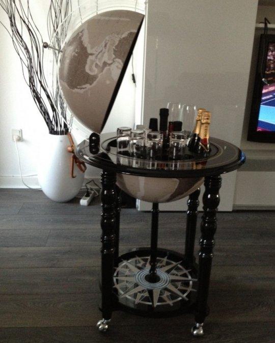 Designer Elegance modern globe bar - black, customer photo 1