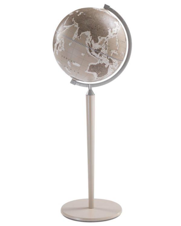 Vasco da Gama floor-standing world globe - gray, product photo