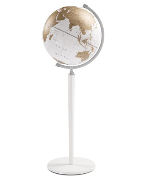 Vasco da Gama floor-standing world globe - white, product photo