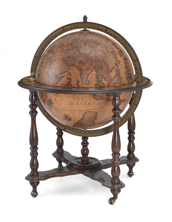 Catalog photo for the Achille Extra Large Bar Globe on Casters - closed
