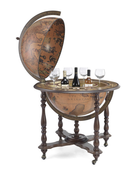 Catalog photo for the Achille Extra Large Bar Globe on Casters