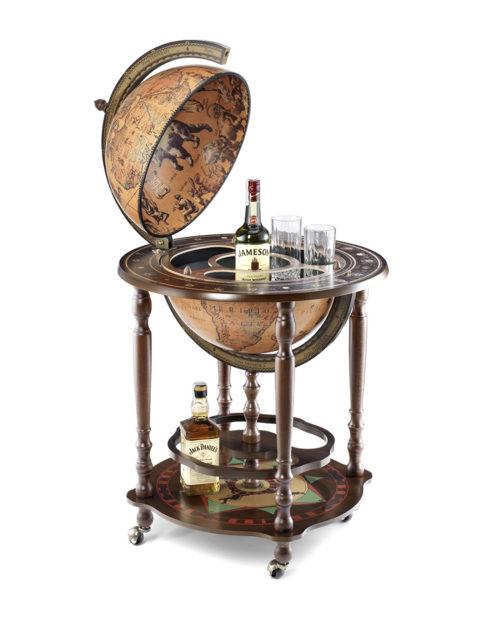 Product photo of the Minosse floor globe bar