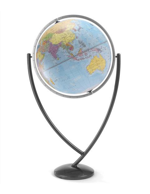 Colombo extra large political world globe - blue, large product photo