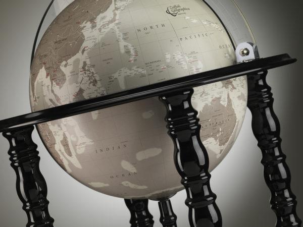 Designer Elegance Modern Globe Bar studio photo - black