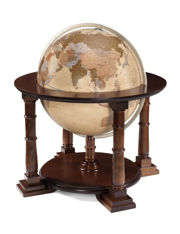 Mercatore extra large world globe - apricot political, product photo